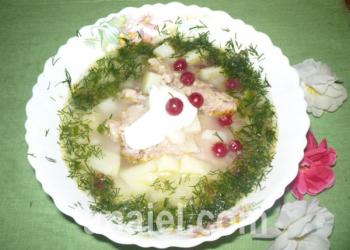 суп из свинины с клюквой