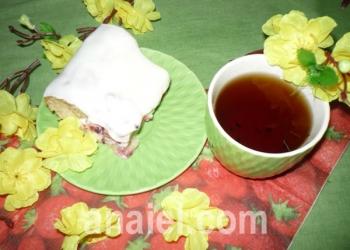 брусничный пирог со сметаной рецепт