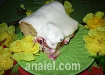 брусничный пирог со сметаной фото