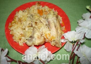 плов с куриными крылышками рецепт