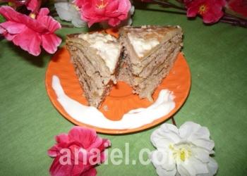 блинный пирог с курицей фото