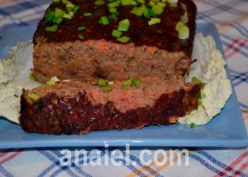 Пирог с печени и овощей