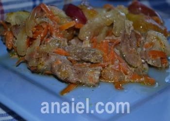 свинина с яблоками блюдо