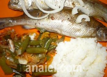 рыба на овощной подушке фото