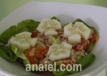 коричневый рис с овощами фото