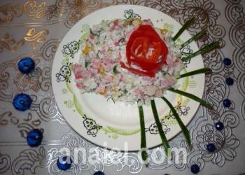 салат с кукурузой фото