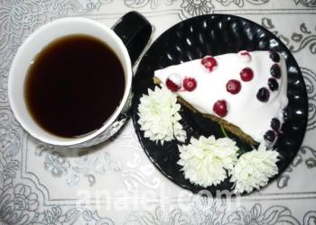 торт ягоды на снегу фото