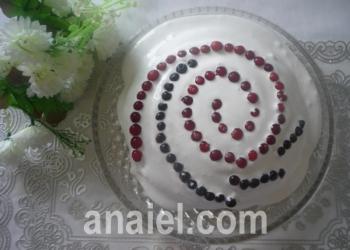 торт ягоды на снегу рецепт