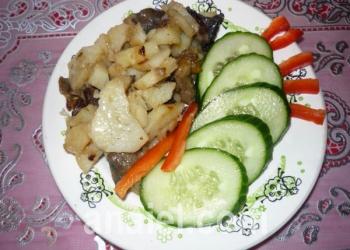 картошка жаренная с грибами фото