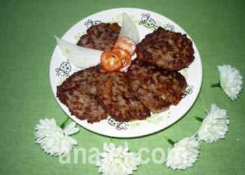 оладьи из кабачка с мясом