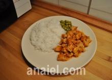 Рис с курицей в соусе