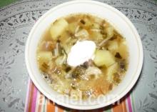 Суп с черемшой и помидорами