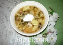 суп с черемшой рецепт
