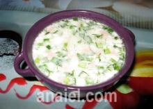 """Картофельный суп со сметаной и яйцами """"Пражский"""""""