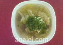 Суп капустный с клёцками