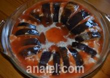 запеченные баклажаны с фаршем блюдо