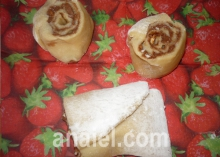 шоколадно ореховые розочки выпечка
