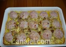 Тефтели в сметанно грибном соусе