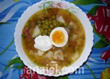 суп с колбасой фото