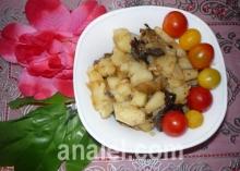 картошка жаренная с грибами рецепт