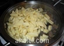 картошка жаренная с грибами блюдо