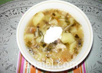 суп с черемшой 11